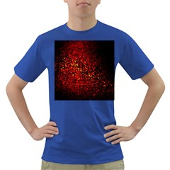 Red Particles Background Dark T-Shirt