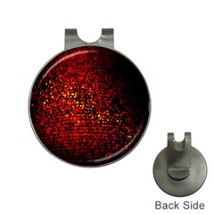 Red Particles Background Hat Clips With Golf Markers