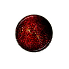 Red Particles Background Hat Clip Ball Marker