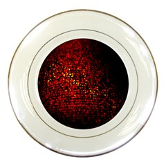 Red Particles Background Porcelain Plates