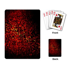 Red Particles Background Playing Card