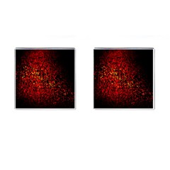 Red Particles Background Cufflinks (square)