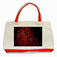 Red Particles Background Classic Tote Bag (Red)