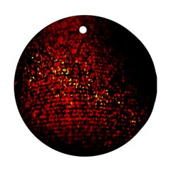 Red Particles Background Round Ornament (two Sides)
