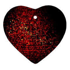 Red Particles Background Heart Ornament (Two Sides)