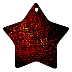 Red Particles Background Star Ornament (two Sides)