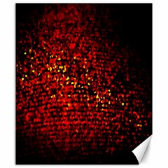 Red Particles Background Canvas 20  x 24