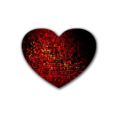 Red Particles Background Heart Coaster (4 pack)
