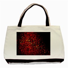Red Particles Background Basic Tote Bag (Two Sides)