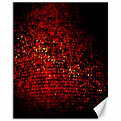 Red Particles Background Canvas 11  X 14