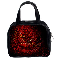 Red Particles Background Classic Handbags (2 Sides)