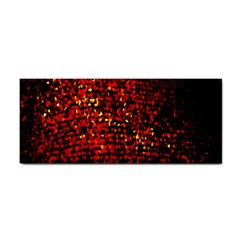 Red Particles Background Cosmetic Storage Cases