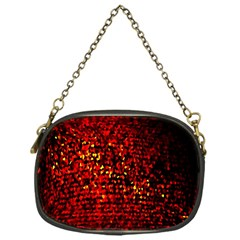 Red Particles Background Chain Purses (one Side)