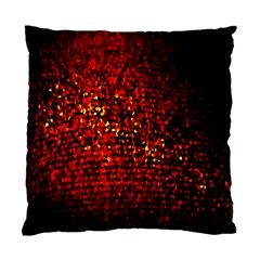 Red Particles Background Standard Cushion Case (one Side)