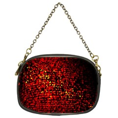 Red Particles Background Chain Purses (two Sides)