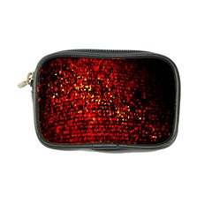Red Particles Background Coin Purse