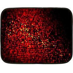 Red Particles Background Double Sided Fleece Blanket (Mini)