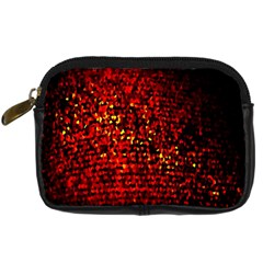Red Particles Background Digital Camera Cases