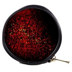 Red Particles Background Mini Makeup Bags