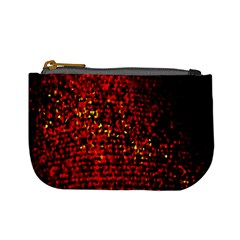 Red Particles Background Mini Coin Purses