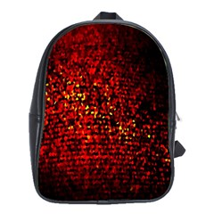 Red Particles Background School Bags(Large)