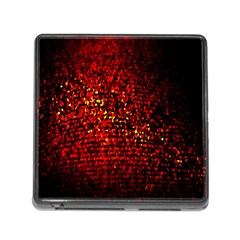 Red Particles Background Memory Card Reader (Square)