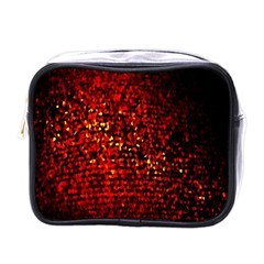 Red Particles Background Mini Toiletries Bags