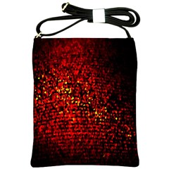 Red Particles Background Shoulder Sling Bags