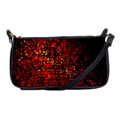 Red Particles Background Shoulder Clutch Bags