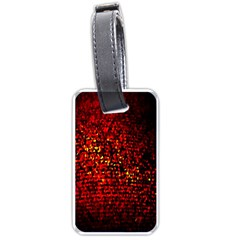 Red Particles Background Luggage Tags (two Sides)