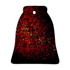 Red Particles Background Bell Ornament (two Sides)