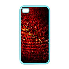 Red Particles Background Apple Iphone 4 Case (color)