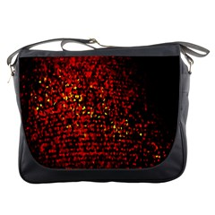 Red Particles Background Messenger Bags