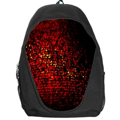Red Particles Background Backpack Bag