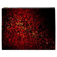 Red Particles Background Cosmetic Bag (xxxl)