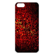 Red Particles Background Apple Iphone 5 Seamless Case (white)
