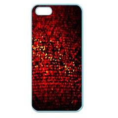 Red Particles Background Apple Seamless Iphone 5 Case (color)
