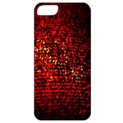 Red Particles Background Apple Iphone 5 Classic Hardshell Case