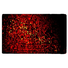 Red Particles Background Apple Ipad 3/4 Flip Case