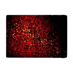 Red Particles Background Apple Ipad Mini Flip Case