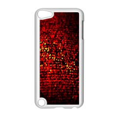 Red Particles Background Apple iPod Touch 5 Case (White)
