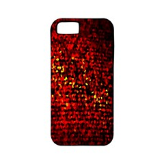 Red Particles Background Apple iPhone 5 Classic Hardshell Case (PC+Silicone)