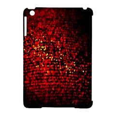 Red Particles Background Apple Ipad Mini Hardshell Case (compatible With Smart Cover)
