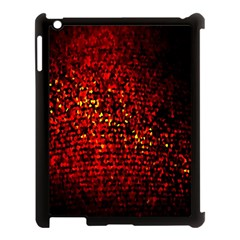 Red Particles Background Apple iPad 3/4 Case (Black)