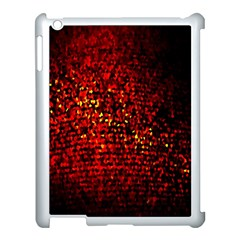 Red Particles Background Apple Ipad 3/4 Case (white)