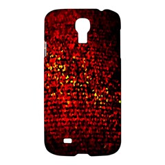Red Particles Background Samsung Galaxy S4 I9500/i9505 Hardshell Case