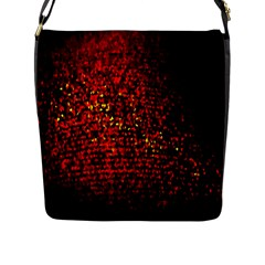 Red Particles Background Flap Messenger Bag (L)