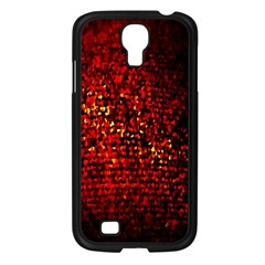 Red Particles Background Samsung Galaxy S4 I9500/ I9505 Case (Black)