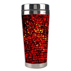 Red Particles Background Stainless Steel Travel Tumblers