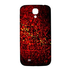 Red Particles Background Samsung Galaxy S4 I9500/i9505  Hardshell Back Case